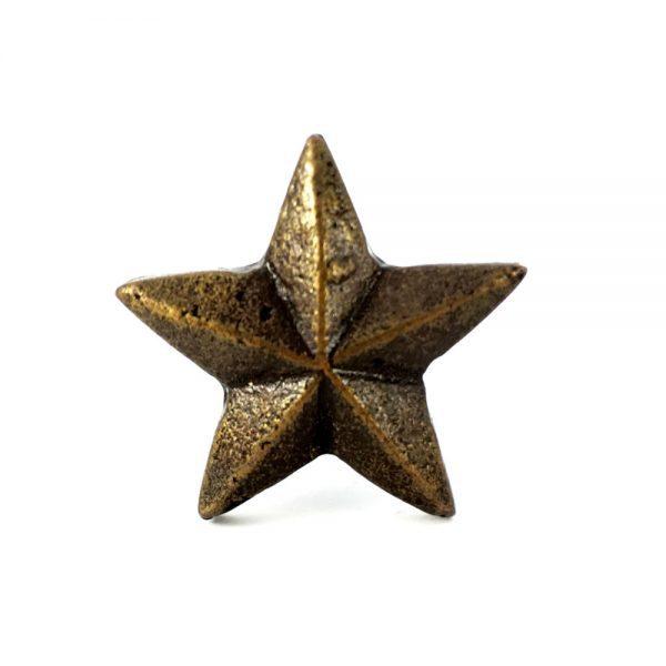 antique gold star knob 3 600x600 - Antique Gold Star Knob