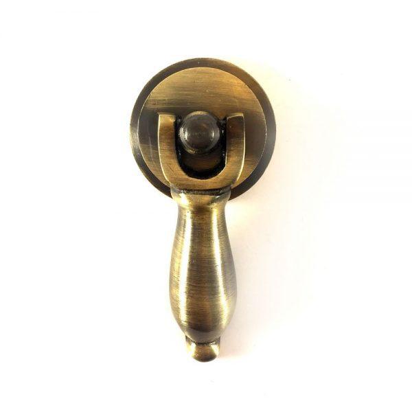 Antique Gold Brass Teardrop Pull
