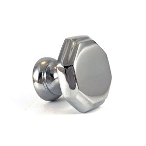 Chrome Hexagon Solid Brass Knob