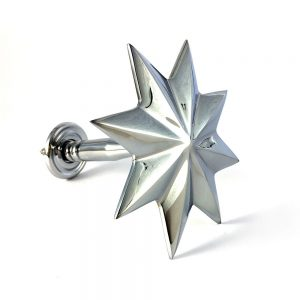 chrome holdback star side2 300x300 - Pair - Chrome Star Curtain Holdback