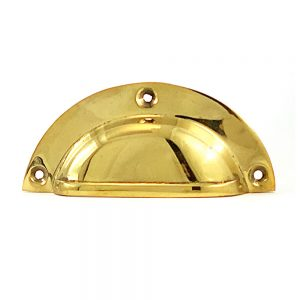Gold Polished Brass Cup Pull