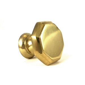 Gold Hexagon Solid Brass Knob