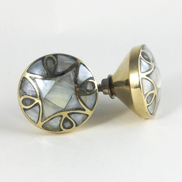 Antiqued Gold and Pearl Knob
