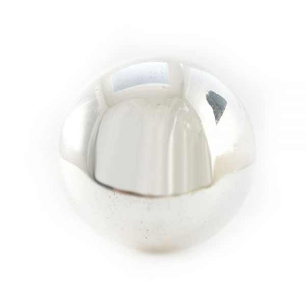Large Round Silver Glass Knob