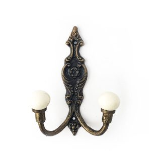Double Vintage Wall Hook – Cream