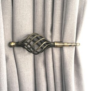 Antiqued Brass Imperial Crown 1 300x300 - Pair - Antique Brass Imperial Crown Curtain Holdback