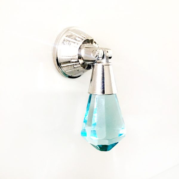 Baby Blue Glass Drop Pull