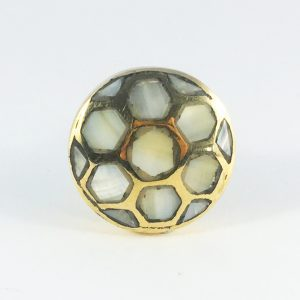Brass and mother of pearl Honeycomb knob 4 300x300 - Home Décor that Brings the Outdoors Indoors