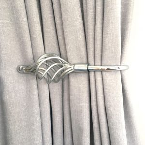 Pair - Chrome Imperial Crown Curtain Holdback