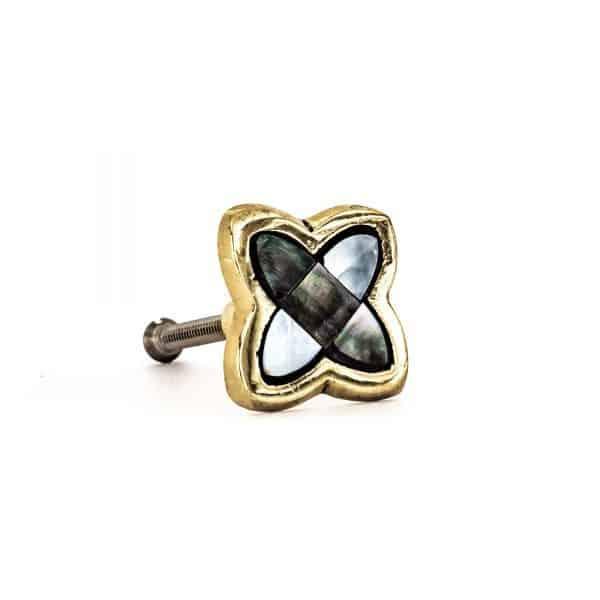 Black Pearled Clover Knob