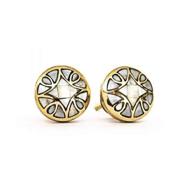 Brass Diamond Shell Knob