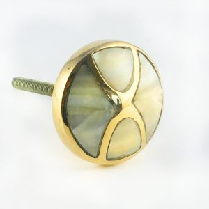 Infinity Brass and mother of pearl knob 3 300x300 - Gold and Pearl Infinity Knob