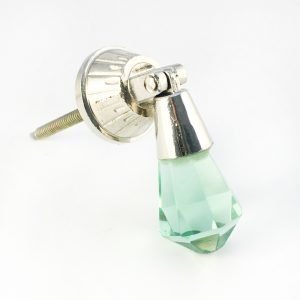 Mint Green Glass Drop Pull