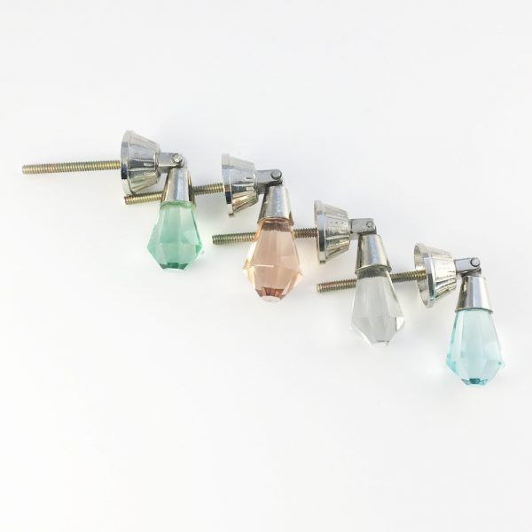 Torquise colour glass jewelled drop pulls 8 600x600 - Mint Green Glass Drop Pull