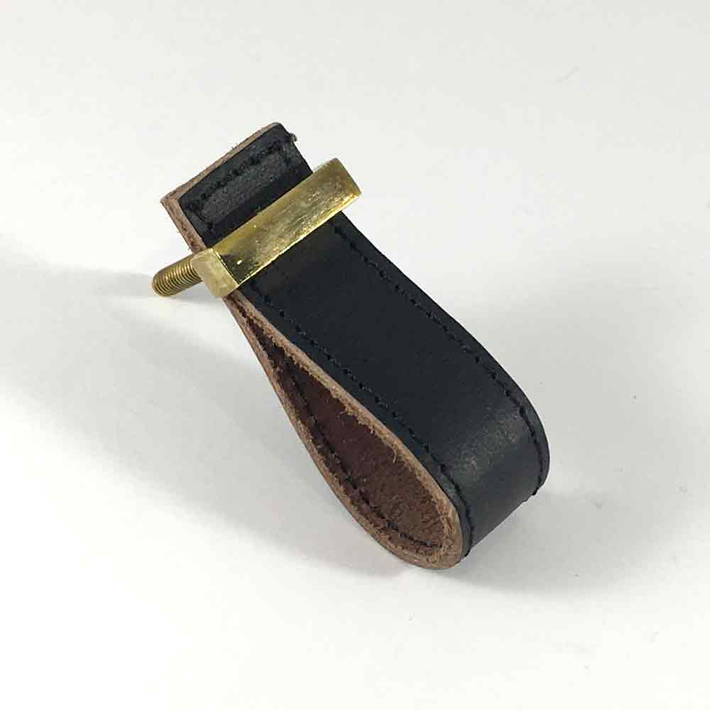 Black Faux Leather Drawer Pull Shop For Cabinet Hardware