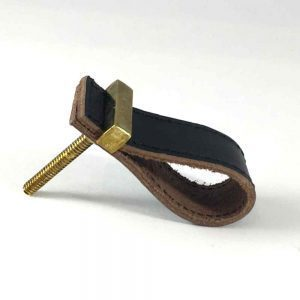 Black - Faux Leather Drawer Pull