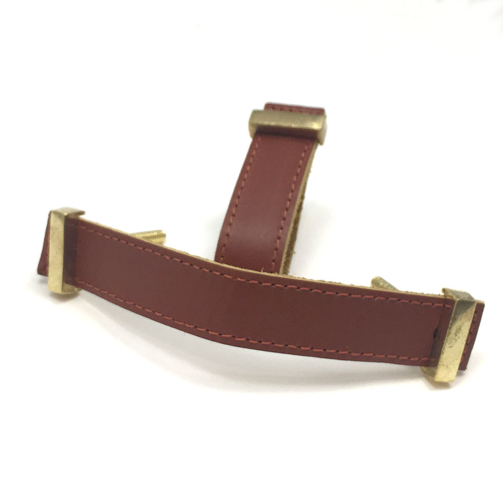 Brown Faux Leather Drawer Pull Shop For Cabinet Hardware