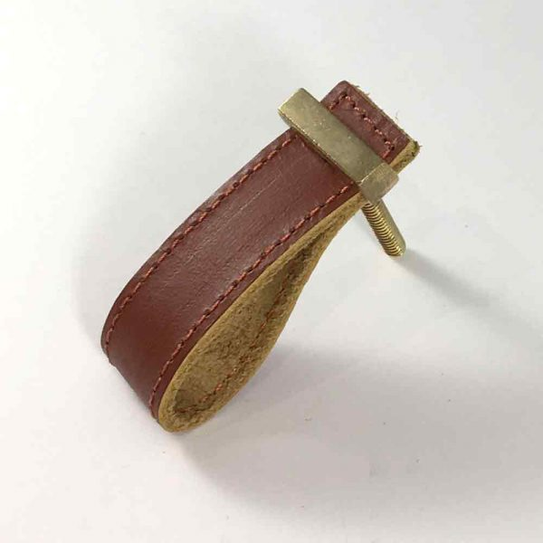 brown faux leather pulls 4 600x600 - Brown - Faux Leather Drawer Pull