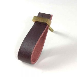 Cherry – Faux Leather Drawer Pull