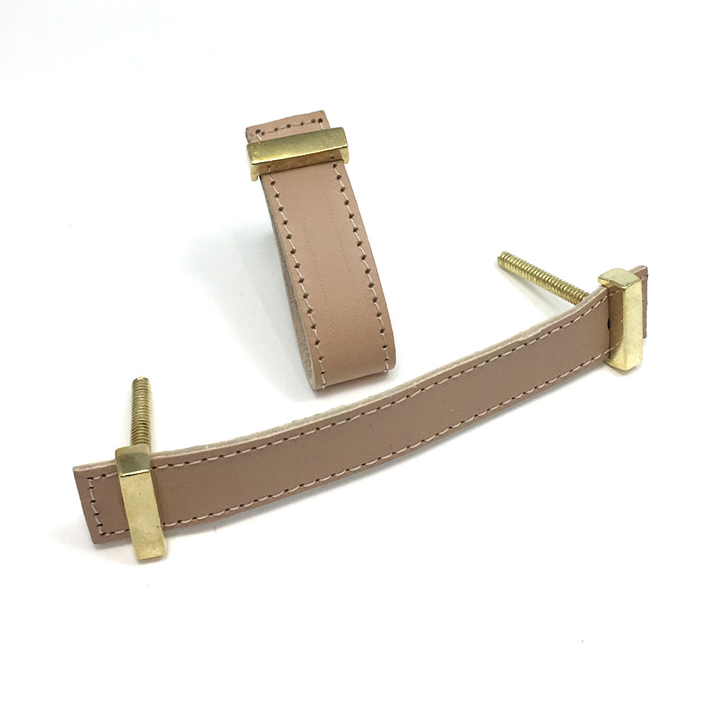 Beige Faux Leather Drawer Handle Shop For Cabinet Hardware