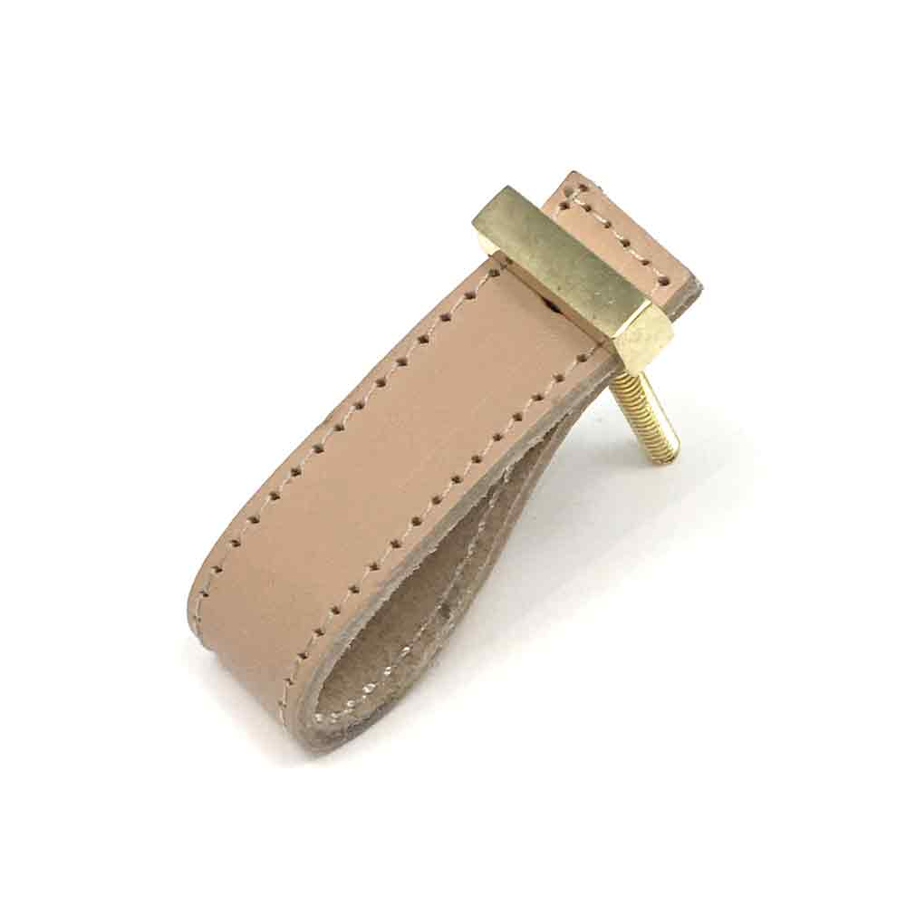 Beige Faux Leather Drawer Pull Shop For Cabinet Hardware