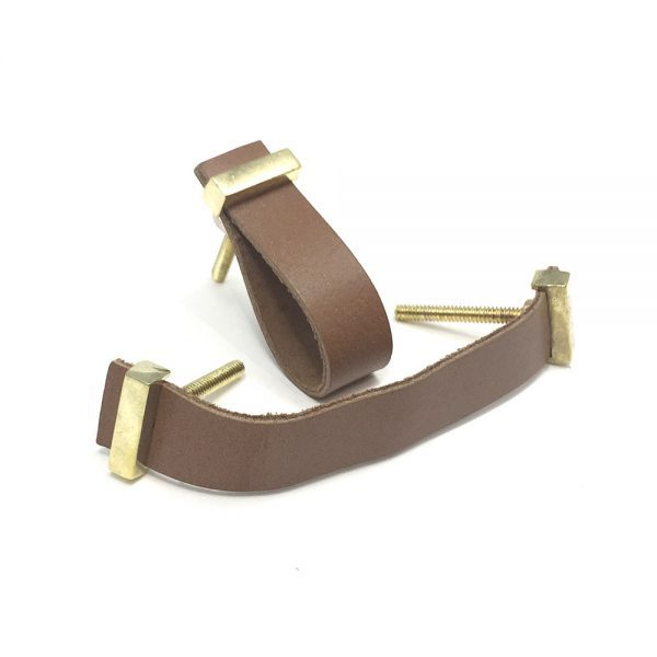 Tan - Faux Leather Handle