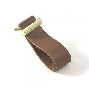 Tan - Faux Leather Drawer Pull