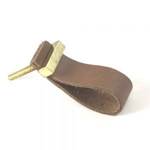 Tan – Faux Leather Drawer Pull
