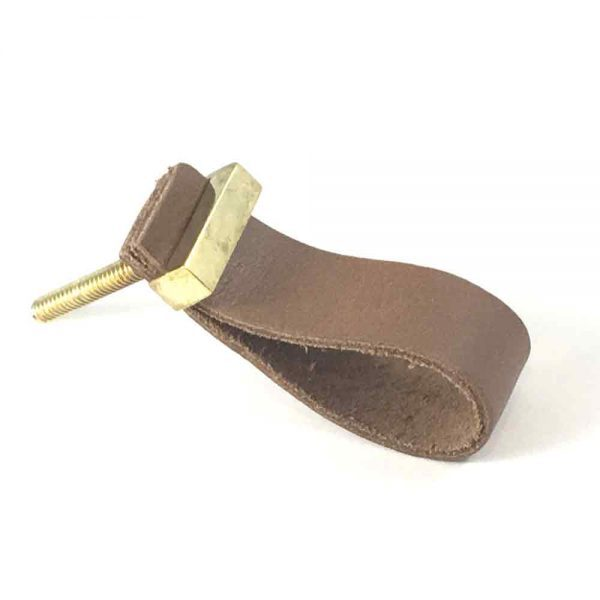 tan faux leather pulls 2 600x600 - Tan - Faux Leather Drawer Pull