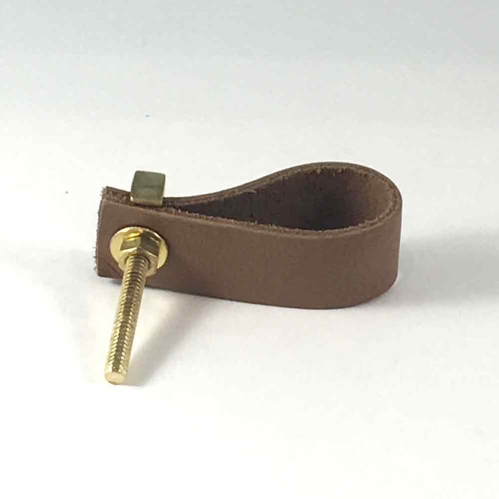 Tan Faux Leather Drawer Pull Shop For Cabinet Hardware