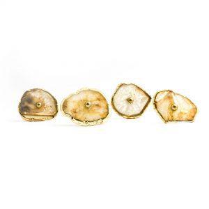 Natural Agate Sliced Knob