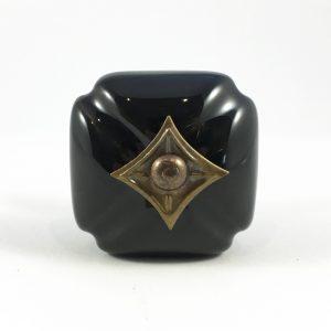 Black vintage style ceramic knob 4 300x300 - Black Vintage Inspired Ceramic Knob