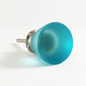 Blue frosted glass knob 3 300x300 - Frosted Round Blue Glass Knob