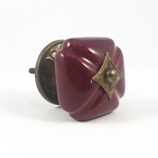 Garnet Vintage Inspired Ceramic Knob