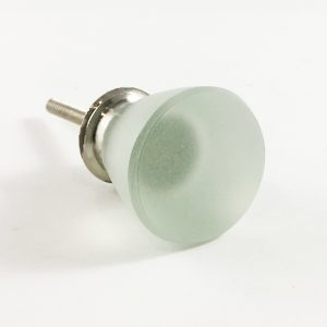 Clear frosted glass knob 1 300x300 - Frosted Round Clear Glass Knob