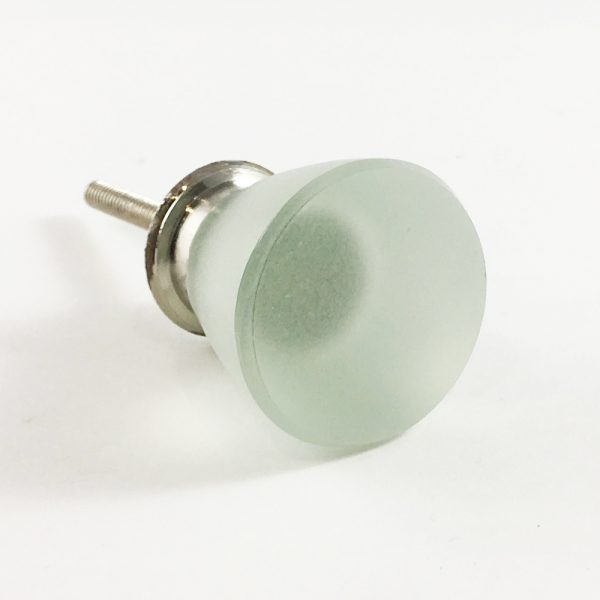 Frosted Round Clear Glass Knob