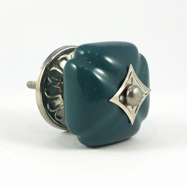 Emerald Vintage Inspired Ceramic Knob