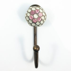 Pink honeycomb wall hook 2 300x300 - Geometric Ceramic Flower Wall Hook