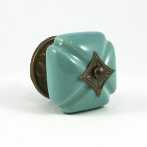 Turquoise vintage style ceramic knob 1 300x300 - Turquoise Vintage Inspired Ceramic Knob