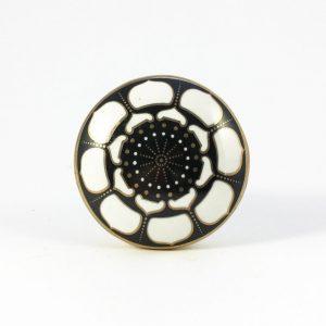 Black lotus pod knob 3 300x300 - Round Black Lotus Pod Knob