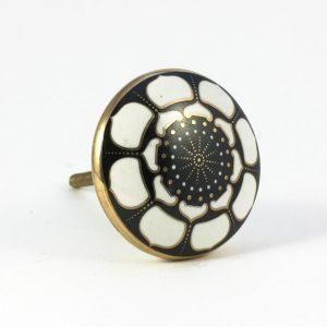 Round Black Lotus Pod Knob