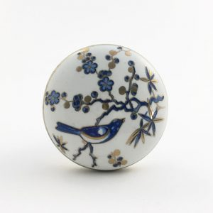 Blue Bird Blossom Ceramic Knob