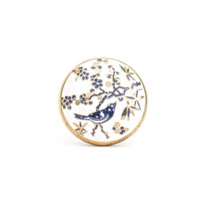 DSC 1312 Blue bird c 300x300 - Blue Bird Blossom Ceramic Knob