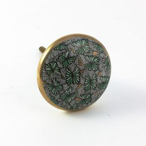 Green tropical print knob 5 300x300 - Shop for Cabinet Handles, Cabinet Pulls & Wall Hooks