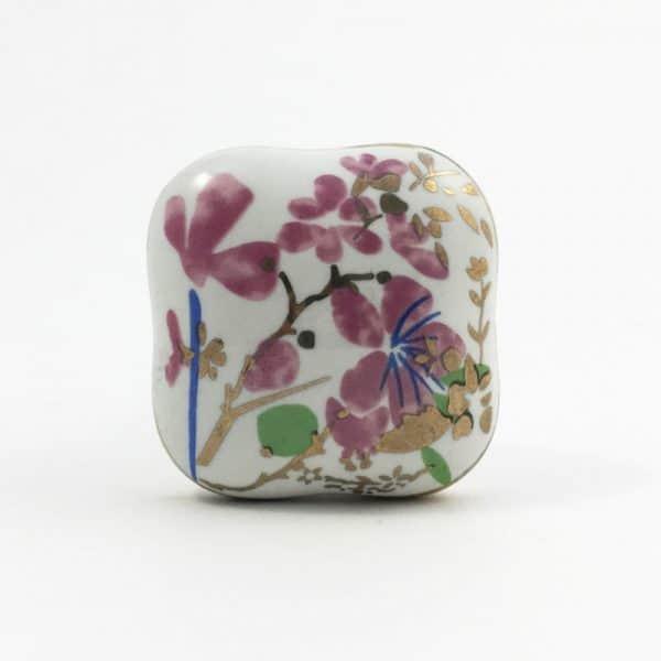 Pink Cherry blossom knob 8 600x600 - Square Pink Cherry Blossom Ceramic Knob