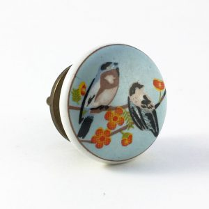 Two Little Robin's Ceramic Knob