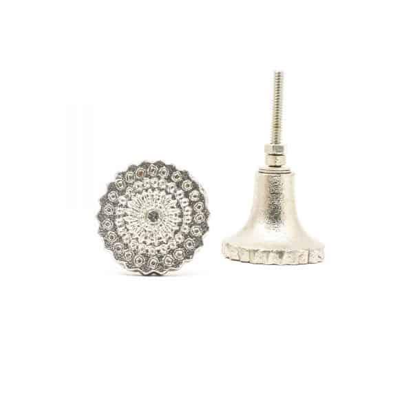 Silver Starburst Iron Knob