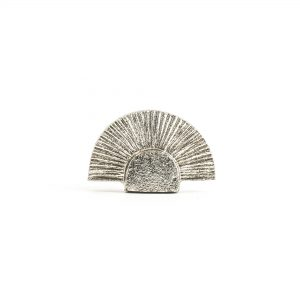 Silver Art Deco Fan Knob