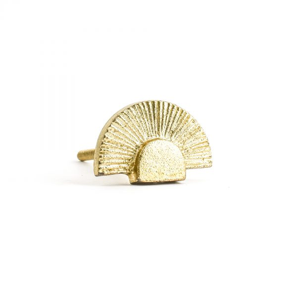 Gold Art Deco Fan Knob