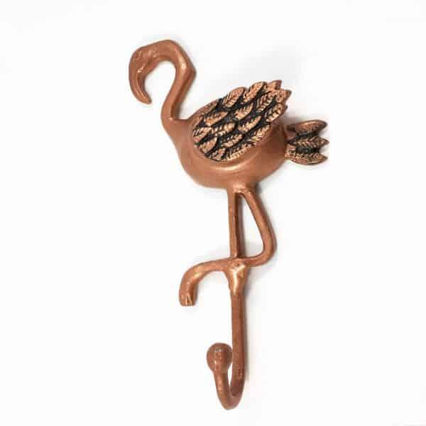 Flamingo hook 6 600x600 - Copper Flamingo Wall Hook